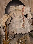 Pretty French Silk and Muslin Bebe Costume with Bonnet