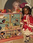 Beautiful little French Wooden Hat Shop for Doll-Display
