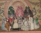Rare Psyche Paper Doll with many Wonderful Paper Clothing