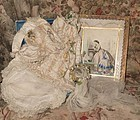 Gorgeous Antique French Poupee Wedding Gown in Box