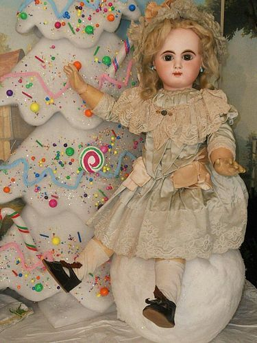 Beautiful French Bisque Bebe Mascotte in Fine Costume