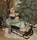 ~~~ Pretty Rare Winter Wonderland Doll Sledge / 19th. Century ~~~