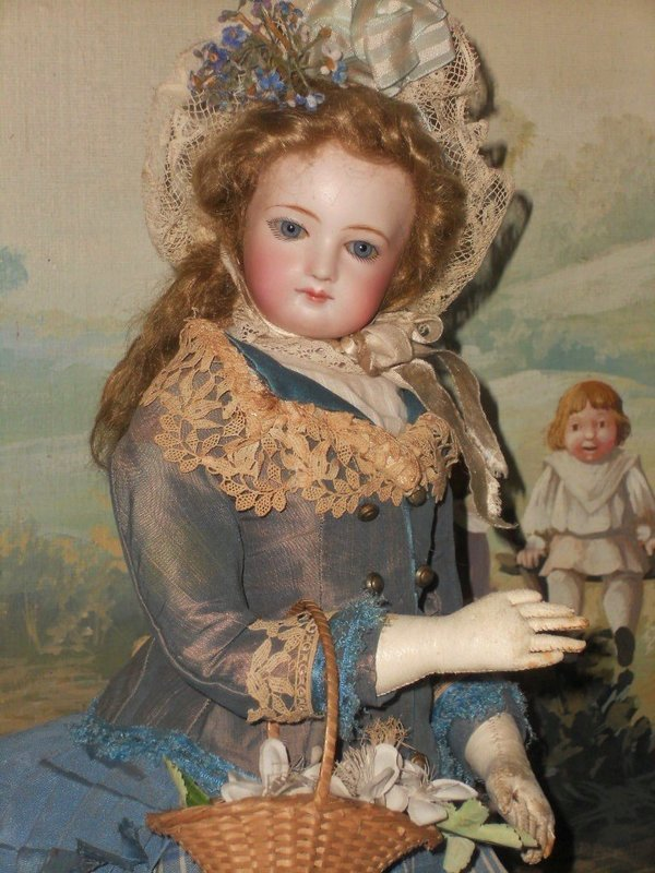 ~~~ Beautiful all original Costumed French Jumeau Poupee ~~~