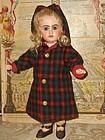 ~~~Original Jumeau Factory Scottish Woolen Coat Size 7 Bebe ~~~