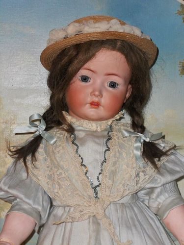 Lovely Large German Bisque Child 117n. by Kammer and Reinhardt
