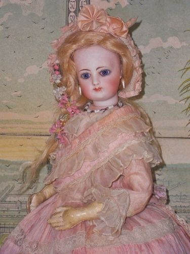 ~~~ So Pretty French Bisque Poupee with Original Gown ~~~