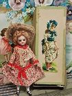 Antique French all Bisque Mignonette in Original Dress and Box