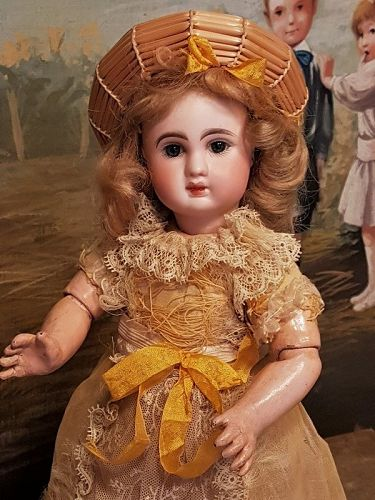 "~~~ Darling 10"" French Bisque Bebe Steiner in original Costume ~~~"