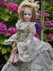 ~ Very Rare Poupee by Brasseur - Videlier in Fantastic Gown / 1863 ~