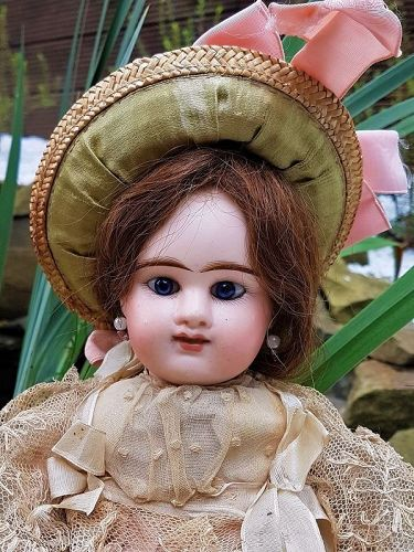 ~~~Lovely all Original French Bisque Bebe Girl by Denamur ~~~