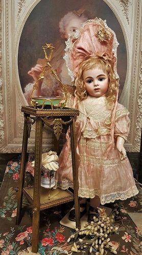 ~~~ Rare and Elegant French Bronze Table for Doll Display ~~~
