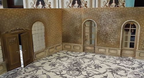 ~~~ Rare Large French Doll Room Walls for French Poupee ~~~