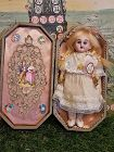 "19th. Century 7"" Darling Bisque Doll in Box Presentation for France"