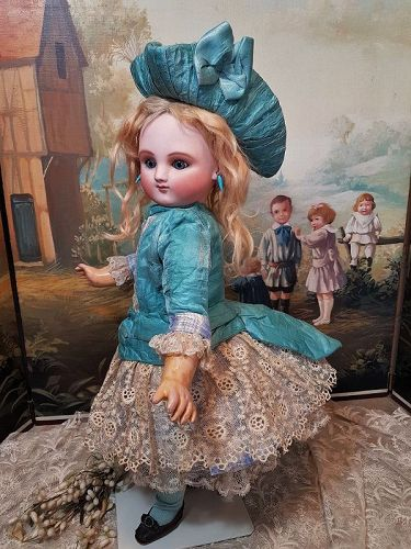 Rare Early Series A French Bisque Bebe by Jules Steiner