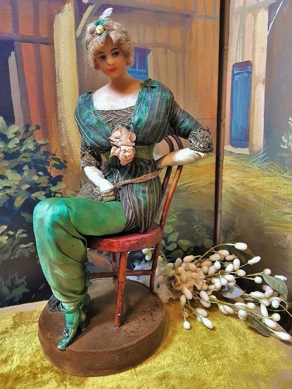 ~~~ Rare French Wax Fashion Doll by Lafitte - Desirat ~~~