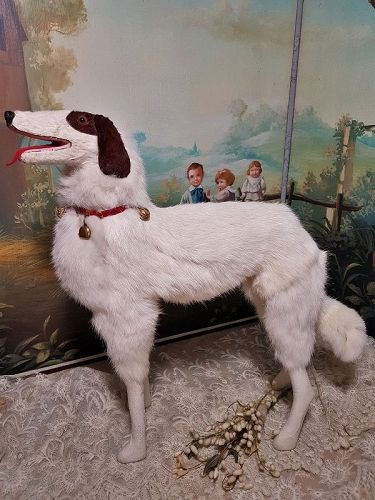 ~~~ Lovely Large Size French Borzoi Salon Dog ~~~