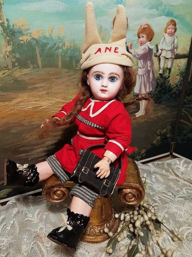 "~~~ Rare 11"" Size 2 Mademoiselle Jumeau in Lovely Antique Clothing ~~~"