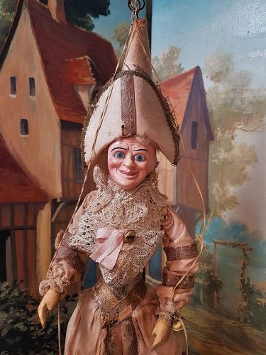 ~~~ Early French Paper Mache Polichinelle in all Original Condition ~~