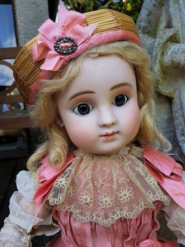 Beautiful French Bisque Bebe Steiner Figure C with Lever Eyes