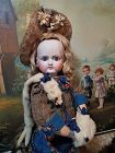 Splendid French Bisque Bebe by Petit et Dumoutier in Antique Costume