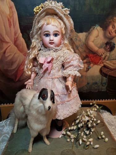 """~~~ Rare 12"""" Size 3 Mademoiselle Jumeau with Pretty Clothing ~~~"""