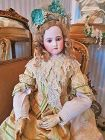 Rarest Grand-Sized French Bisque Wooden-Body Poupee by Jumeau