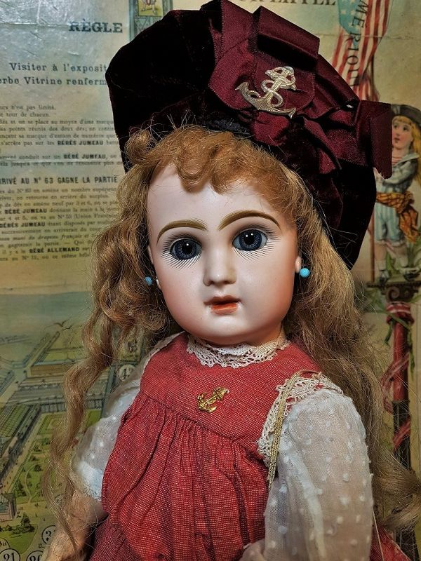 Lovely Bisque Bebe from Maison Jumeau in Superb Antique Costume