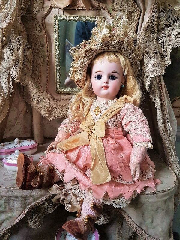 ~~~Lovely French Bisque Bebe by Gaultier in Superb Costume ~~~