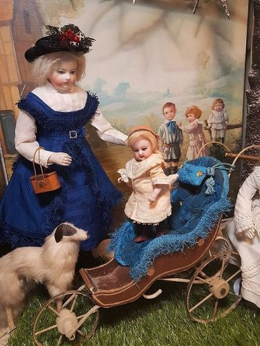 ~~~ Nice Small French 19th. Century Fashion Doll Stroller ~~~