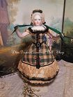 ~~~ Rare Huret era. 1860 Enfantine Silk Costume for early Poupee ~~~