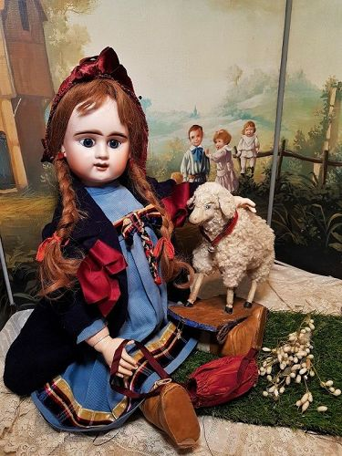 ~~~Lovely Large French Bisque Bebe Girl by Denamur ~~~