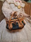 Rare 1860th. Bomb-Shaped Poupee Leather Necessaire Bag for Huret