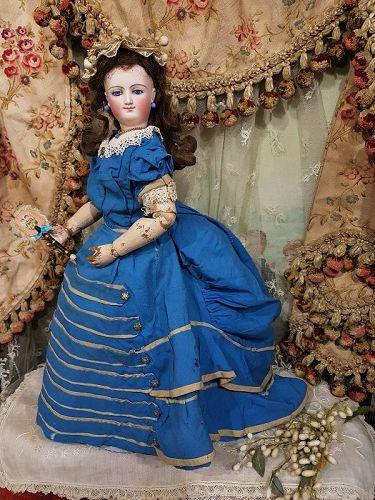 ~~~ Rare Empress Eugenie all Wood Body Poupee by Bru ~~~