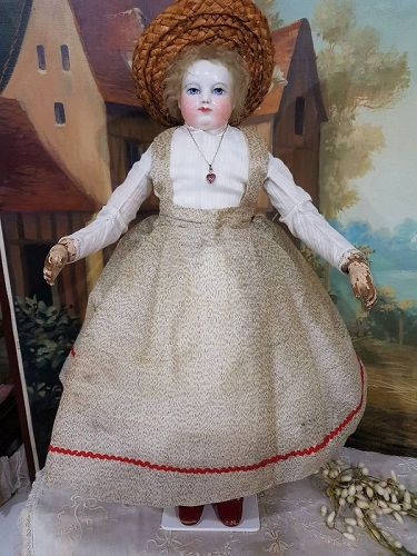 Lovely French Fashion Enfantine silk Gown & Blouse / 1860th.