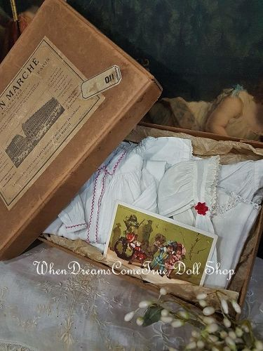 Original French Poupee Nightgowns Ensemble in Store Box