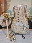 Marvelous French Bebe Costume with matching Bonnet