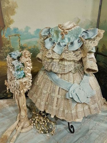 ~~~ Fancy French Bebe Costume with Matching Bonnet ~~~