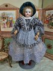 ~~~ Superb French Silk Enfantine Poupee Gown for Huret , Rohmer ~~~