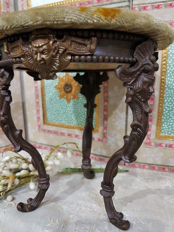 Very Fine French Bronze Legs Poupee Table for Huret , Rohmer ....1870