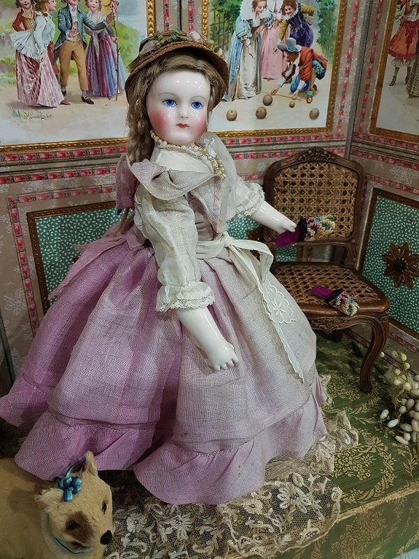Very Fine French Porcelain Poupee by M.L. Rohmer / 1858