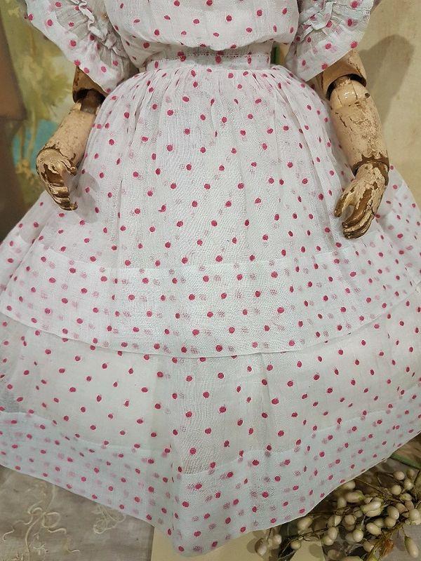 ~~~ Rare French Enfantine Poupee Gown by Maison Huret ~~~