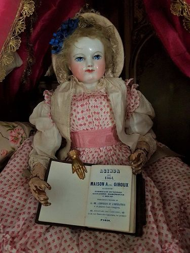 ~~~ Rare Miniature Poupee Notebook by Maison Giroux / 1864 ~~~