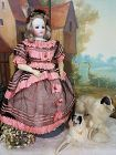 Early French Poupee by Blampoix with Gorgeous Enfantine Costume