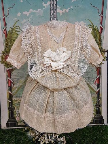 ~~~ Pretty Factory Antique French Bebe Chemise  ~~~