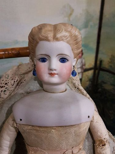 Attic Found German Fashionable Bisque Lady by Simon & Halbig