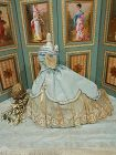 ~~~ Nice Vintage Home Made Silk Poupee Gown ~~~