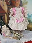 ~~~ Fancy French Bebe Silk and Lace Costume with Marching Bonnet ~~~