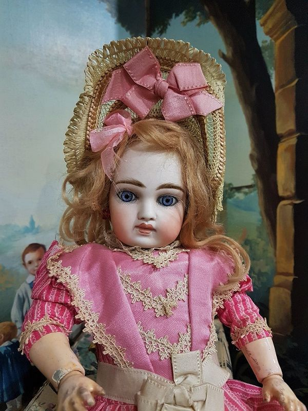Outstanding French Market Sonneberger Bisque Bebe near Mint condition