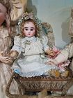Cute French Bisque Bebe Steiner Figure C with Lever Eyes