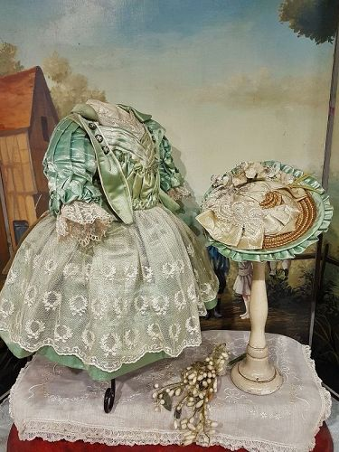 ~~~ Luxury French Bebe Costume with Matching Bonnet ~~~